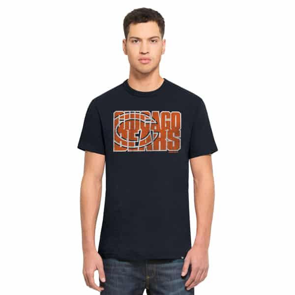Chicago Bears Scrum T-Shirt Mens Fall Navy 47 Brand