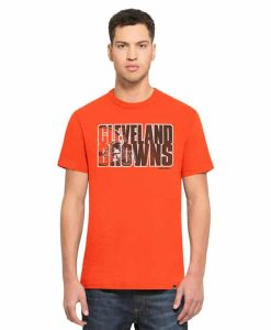 Cleveland Browns Scrum T-Shirt Mens Thunder 47 Brand