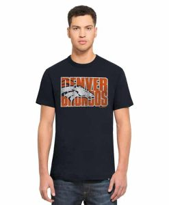 Denver Broncos Scrum T-Shirt Mens Fall Navy 47 Brand