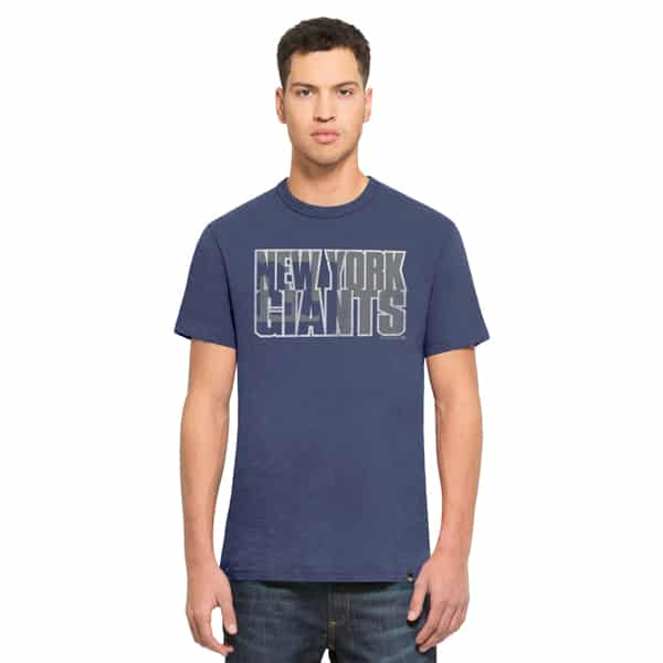 New York Giants Scrum T-Shirt Mens Bleacher Blue 47 Brand