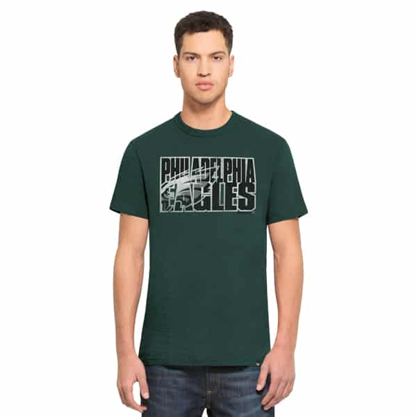 Philadelphia Eagles Scrum T-Shirt Mens Pacific Green 47 Brand