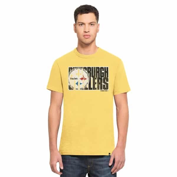 Pittsburgh Steelers Scrum T-Shirt Mens Track Gold 47 Brand