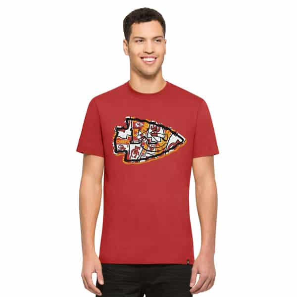 Kansas City Chiefs Crosstown Flanker T-Shirt Mens Rescue Red 47 Brand
