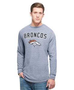 Denver Broncos Team Tri-State Long Sleeve T-Shirt Mens Olympic Blue 47 Brand