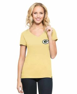 Green Bay Packers Clutch Mvp Womens Track Gold 47 Brand