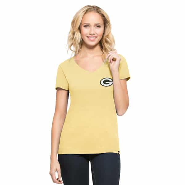 Green Bay Packers Clutch Mvp Womens Track Gold 47 Brand