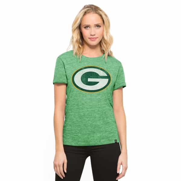 Green Bay Packers Mvp Hero T-Shirt Womens Cash Green 47 Brand