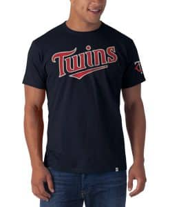 Minnesota Twins Fieldhouse T-Shirt Mens Fall Navy 47 Brand