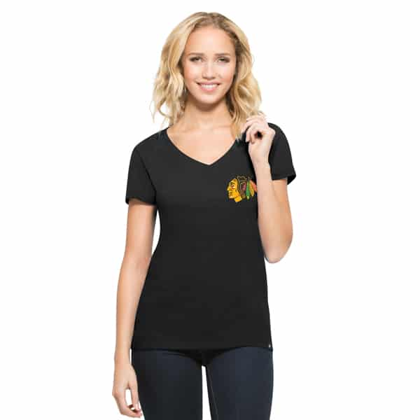Chicago Blackhawks Clutch Mvp Womens Jet Black 47 Brand
