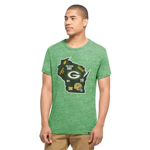Green Bay Packers Tri-State T-Shirt Mens Cash Green 47 Brand