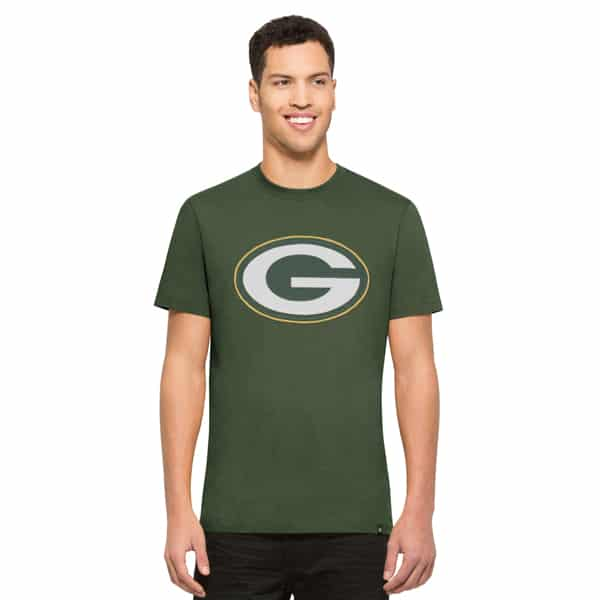 Green Bay Packers Knockout T-Shirt Mens Bottle Green 47 Brand