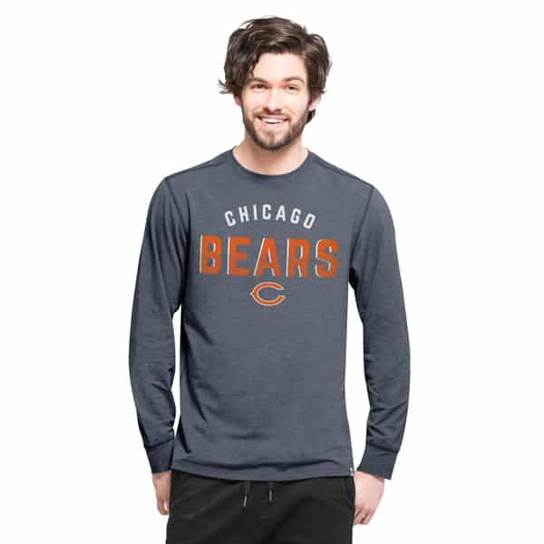 Chicago Bears Forward Ls T-Shirt Mens Shift Navy 47 Brand
