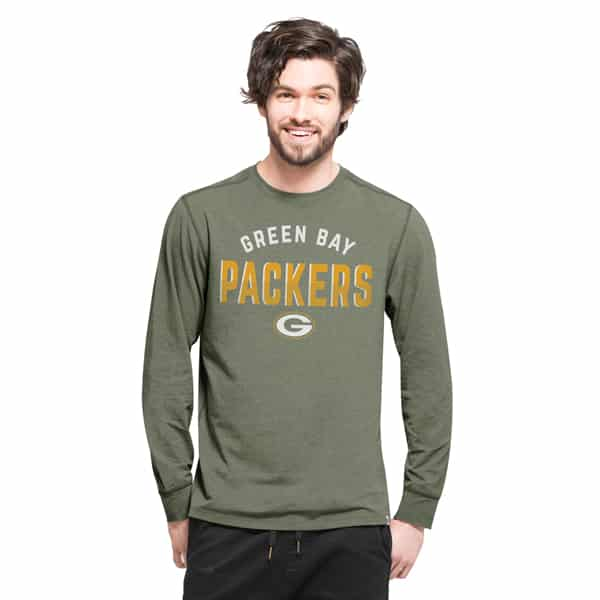 Green Bay Packers Forward Ls T-Shirt Mens Shift Green 47 Brand