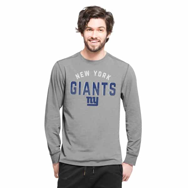 New York Giants Forward Ls T-Shirt Mens Shift Grey 47 Brand