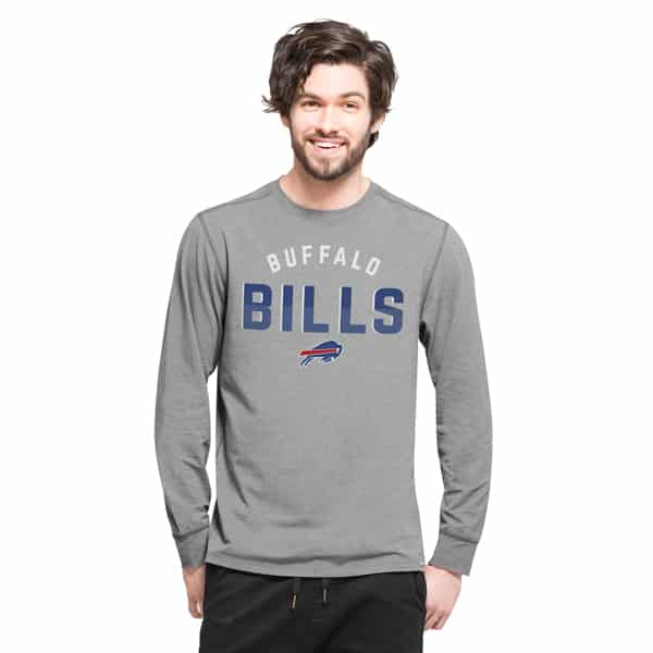 Buffalo Bills Forward Ls T-Shirt Mens Shift Grey 47 Brand