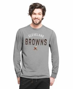 Cleveland Browns Forward Ls T-Shirt Mens Shift Grey 47 Brand