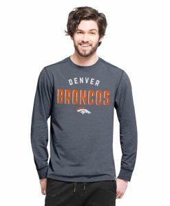Denver Broncos Forward Ls T-Shirt Mens Shift Navy 47 Brand