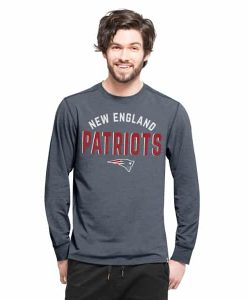 New England Patriots Forward Ls T-Shirt Mens Shift Navy 47 Brand