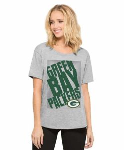 Green Bay Packers Heather Boyfriend T-Shirt Womens Og Grey 47 Brand