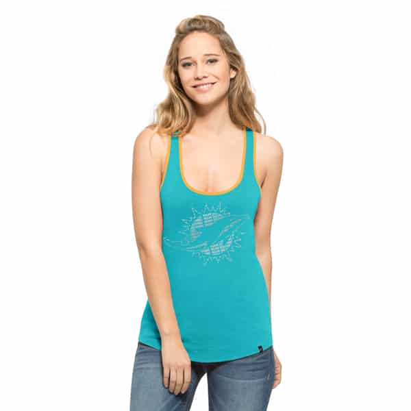 Miami Dolphins Clutch Tank Top Womens Neptune 47 Brand