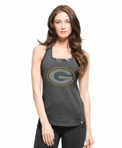 Green Bay Packers Forward Tank Top Womens Shift Black 47 Brand