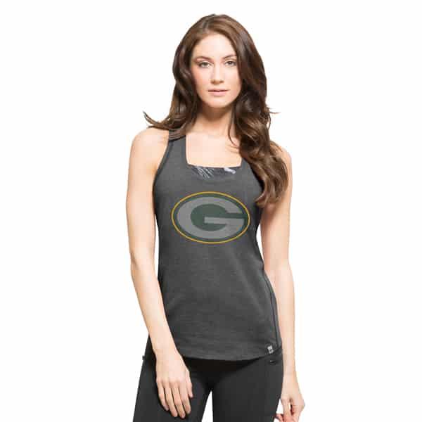 Green Bay Packers Forward Tank Top Womens Shift Black 47 Brand