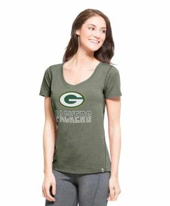 Green Bay Packers Forward T-Shirt Womens Shift Green 47 Brand