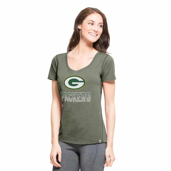 Green Bay Packers Forward T-Shirt Womens Shift Green 47 Brand