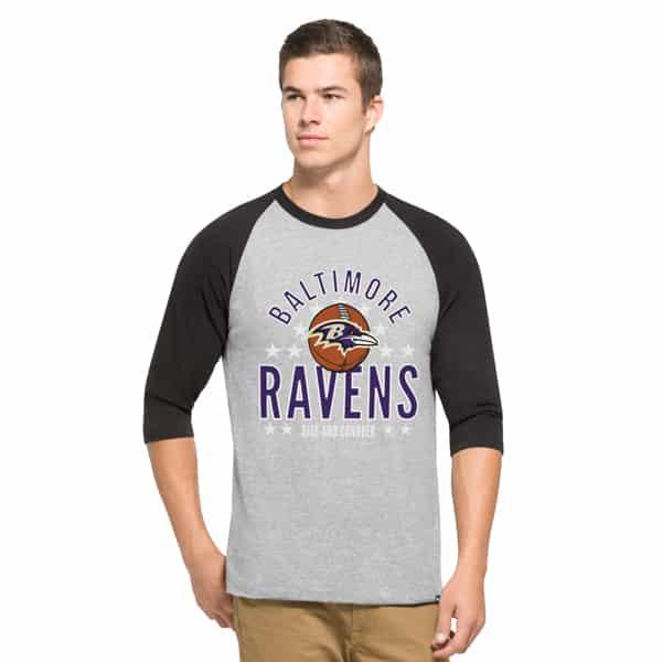 Baltimore Ravens Lockdown Raglan Mens Olympus 47 Brand