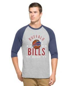 Buffalo Bills Men's 47 Brand Lockdown Raglan 3/4 Sleeve T-Shirt Tee