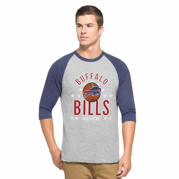 Buffalo Bills Lockdown Raglan Mens Olympus 47 Brand