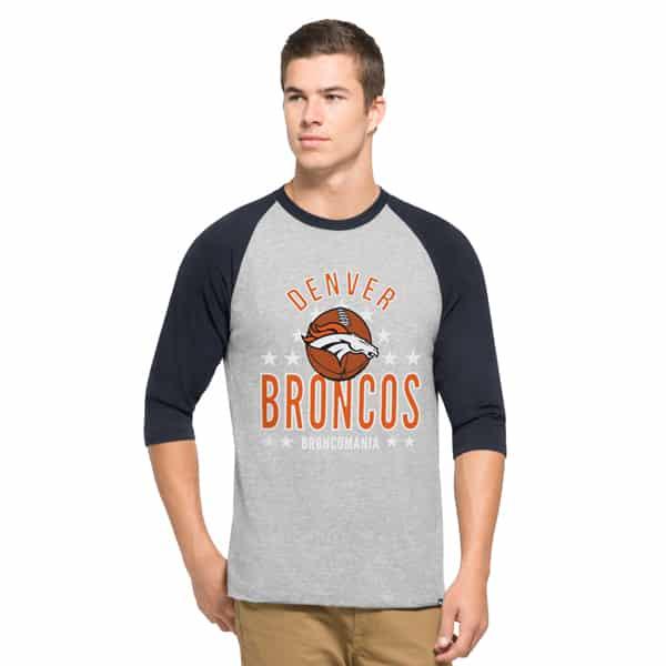 Denver Broncos Lockdown Raglan Mens Olympus 47 Brand