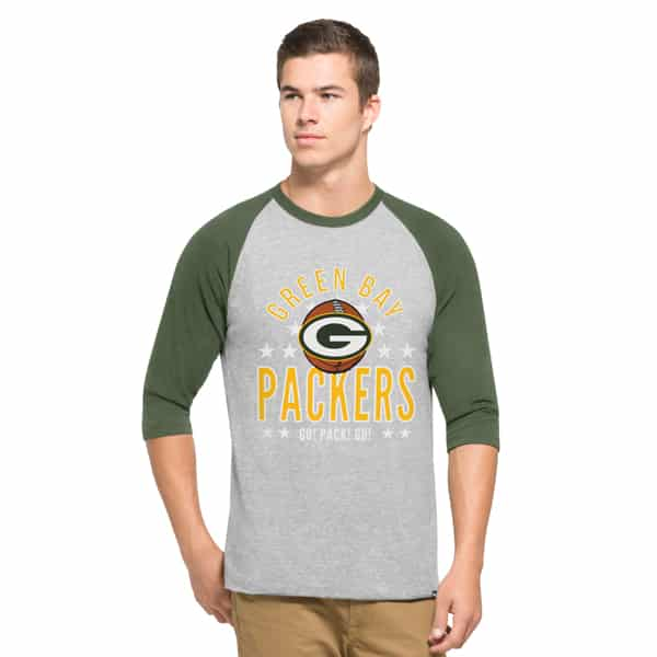 Green Bay Packers Lockdown Raglan Mens Olympus 47 Brand