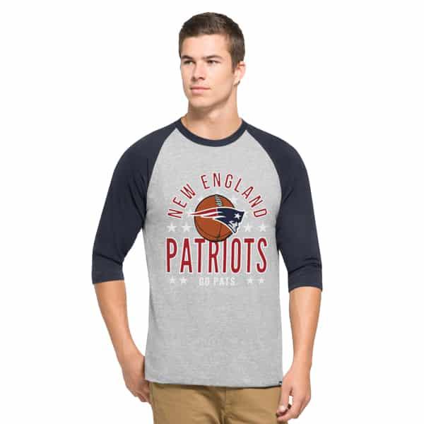 New England Patriots Lockdown Raglan Mens Olympus 47 Brand
