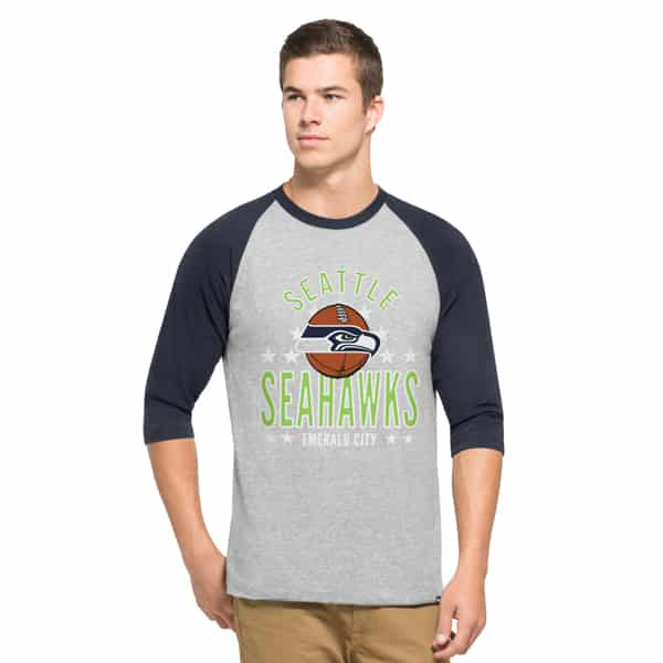 Seattle Seahawks Lockdown Raglan Mens Olympus 47 Brand