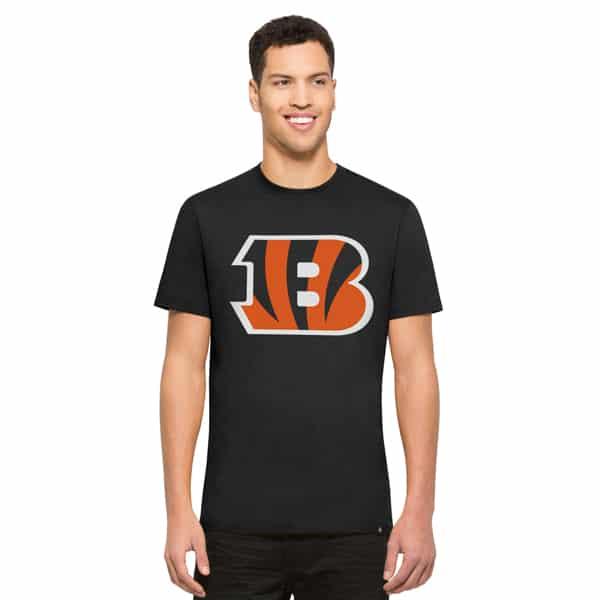 Cincinnati Bengals Crosstown Flanker T-Shirt Mens Jet Black 47 Brand