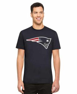 New England Patriots Crosstown Flanker T-Shirt Mens Midnight 47 Brand