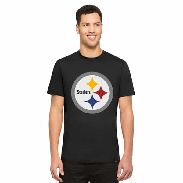 Pittsburgh Steelers Crosstown Flanker T-Shirt Mens Jet Black 47 Brand