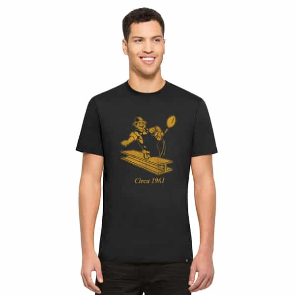 Pittsburgh Steelers Knockaround Flanker T-Shirt Mens Jet Black 47 Brand