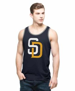 San Diego Padres Crosstown Tank Top Mens Fall Navy 47 Brand