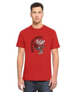 Wisconsin Badgers Scrum Men's 47 Brand Red T-Shirt Tee