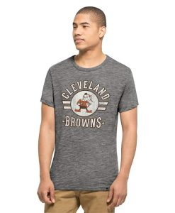 Cleveland Browns Tri-State T-Shirt Mens Vintage Grey 47 Brand