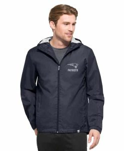 New England Patriots React Jacket Mens Marine 47 Brand