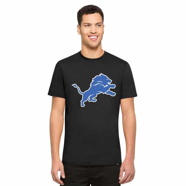 Detroit Lions Crosstown Flanker T-Shirt Mens Jet Black 47 Brand