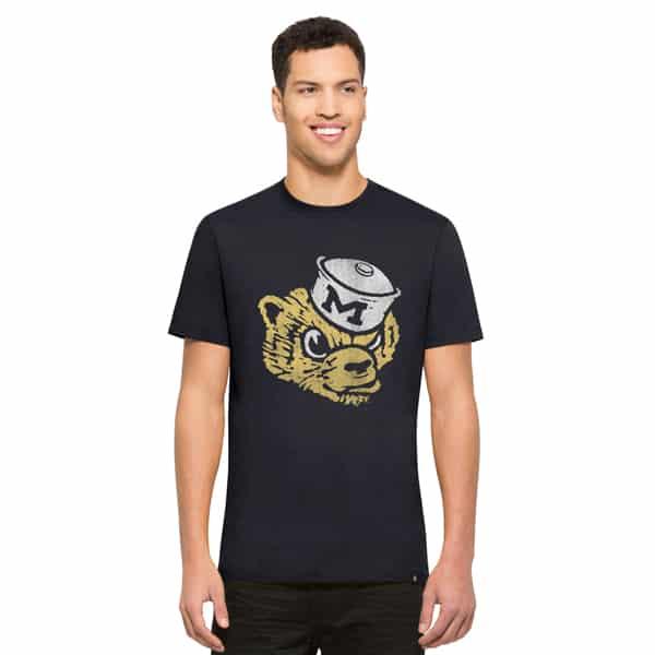 Michigan Wolverines Knockaround Flanker T-Shirt Mens Midnight 47 Brand