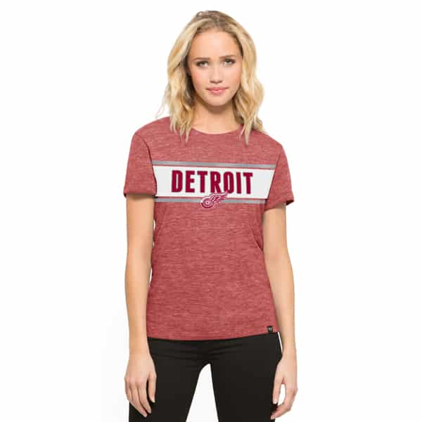 Detroit Red Wings Clutch Hero T-Shirt Womens Lava Red 47 Brand