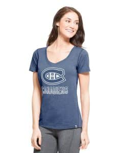 Montreal Canadiens Forward T-Shirt Womens Shift Blue 47 Brand