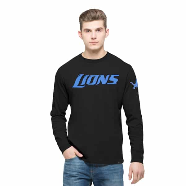 Detroit Lions 47 Brand Men's Long Sleeve Black Fieldhouse Shirt