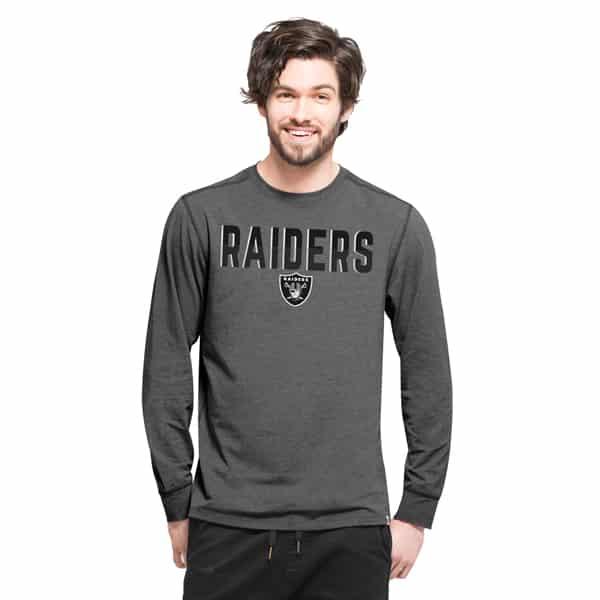 Oakland Raiders Forward Ls T-Shirt Mens Shift Black 47 Brand