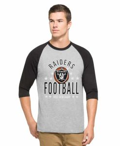 Oakland Raiders Lockdown Raglan Mens Olympus 47 Brand